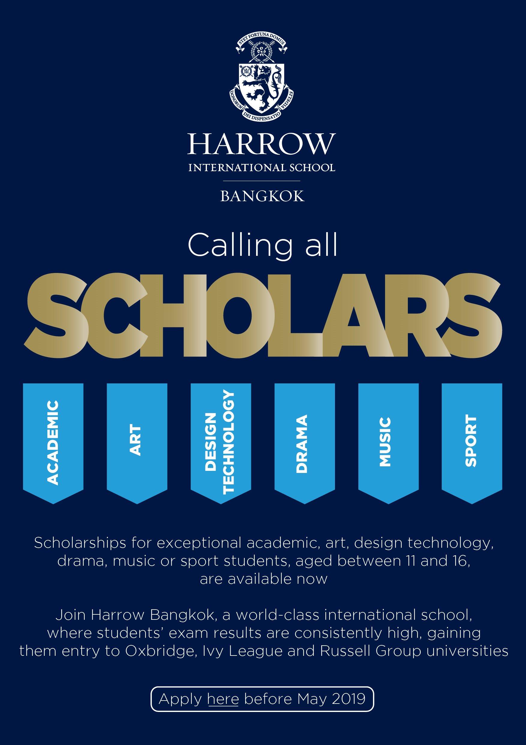 Scholarships at Harrow Bangkok.